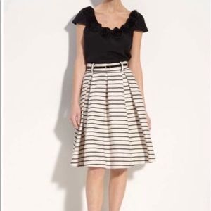 Kate Spade black and ivory stripe skirt